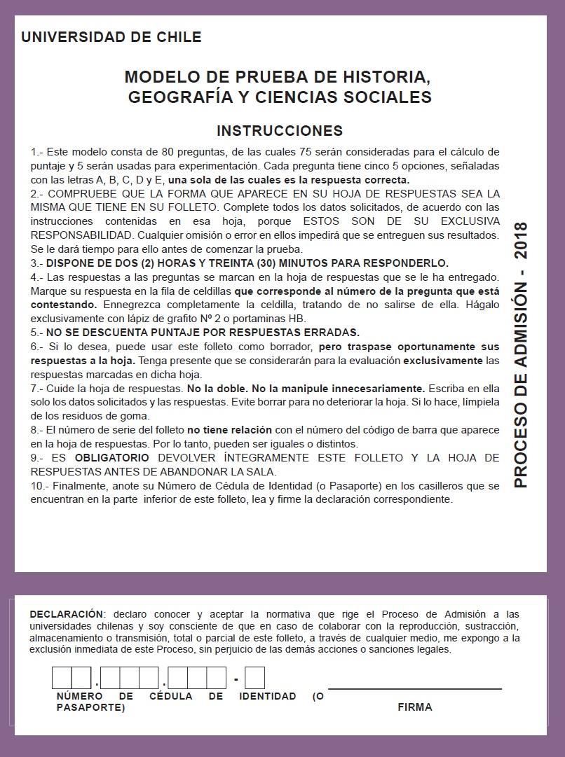 Modelo PSU Historia Demre 2018
